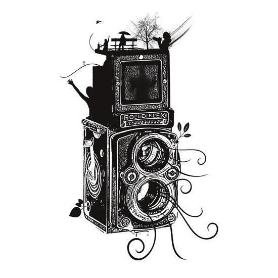 Retro Rolleiflex Evolution of Photography Vintage by Denis Marsili