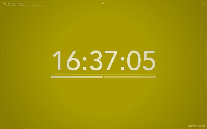 The Colour Clock Screensaver